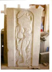 """Relief des ehemaligen Ehrenmals """"Starving Man"""" (1945, Mykola Muchin, Kiew)"""